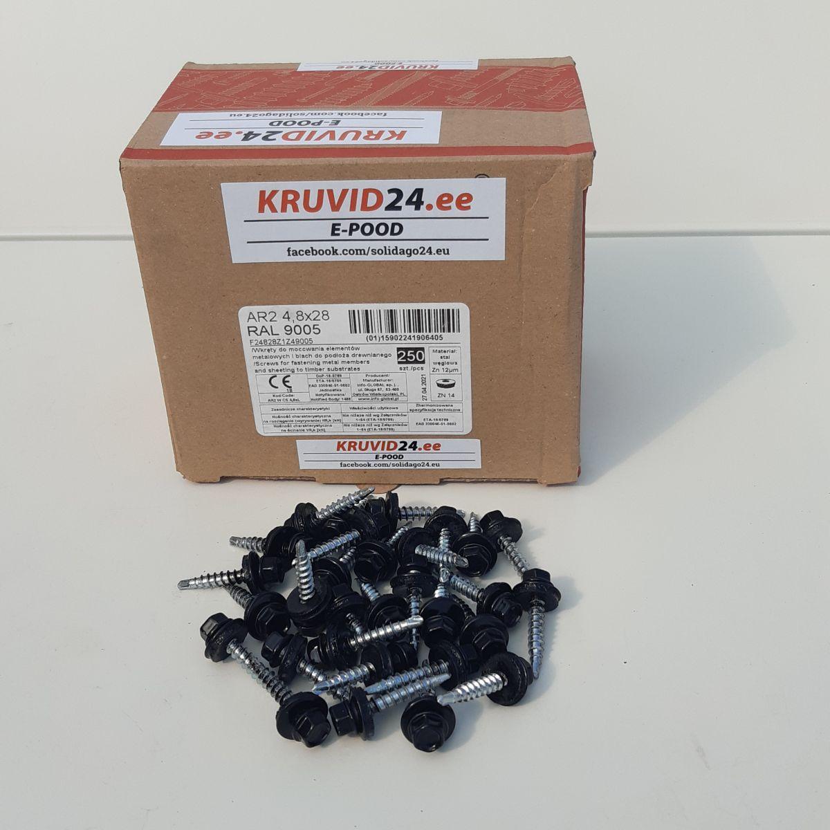 Self-drilling screws 4.8x50mm, 100pc/pack
