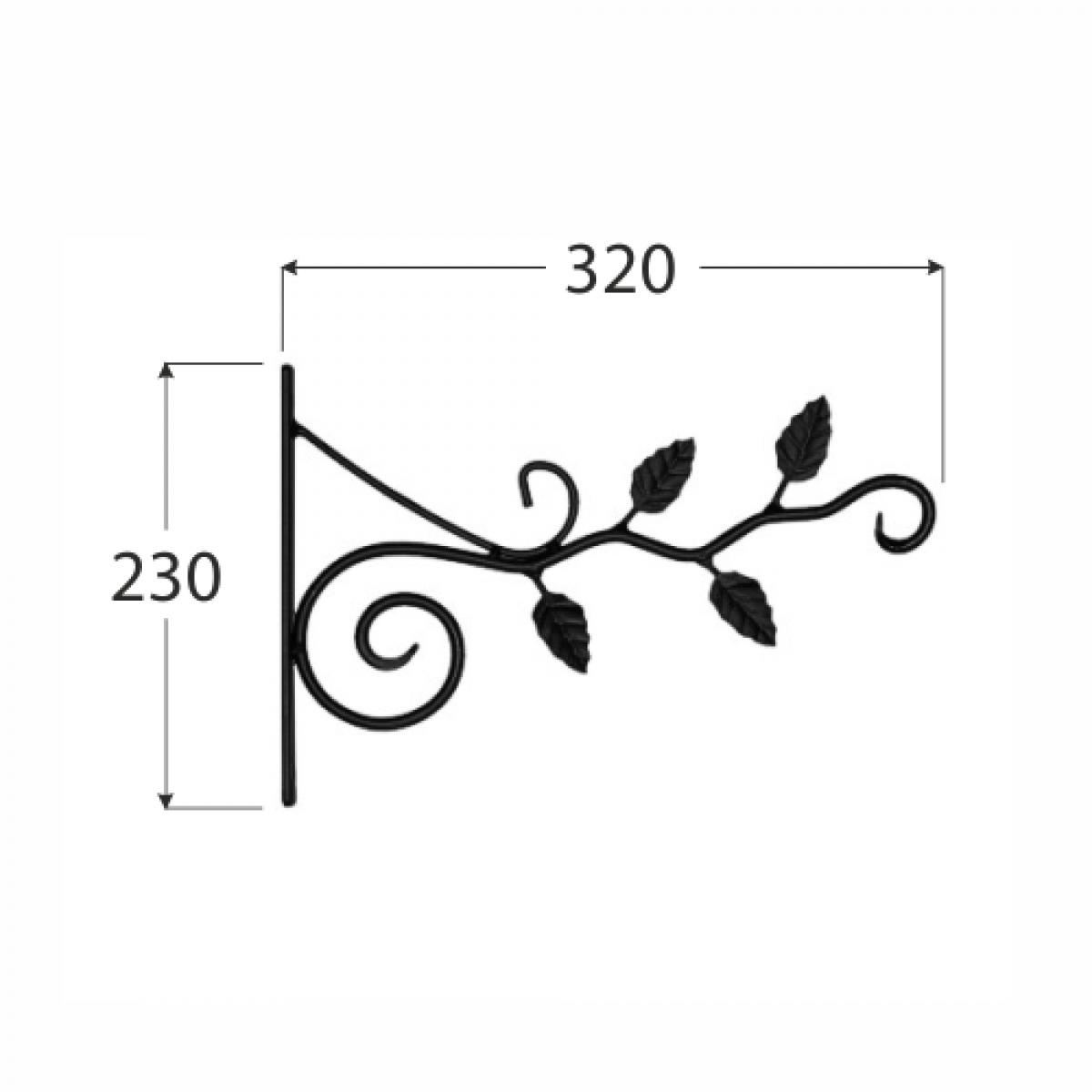 Flowerpot bracket butterfly